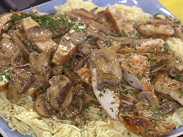 Appetizer of mushrooms and chicken