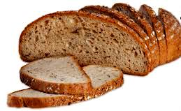 Black bread pieces