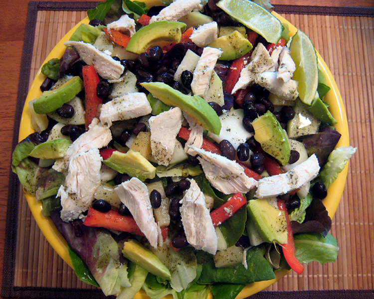 Chicken Salad with kohlrabi