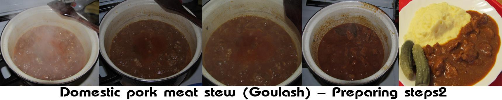 Goulash - Domestic pork meat stew preparation 2