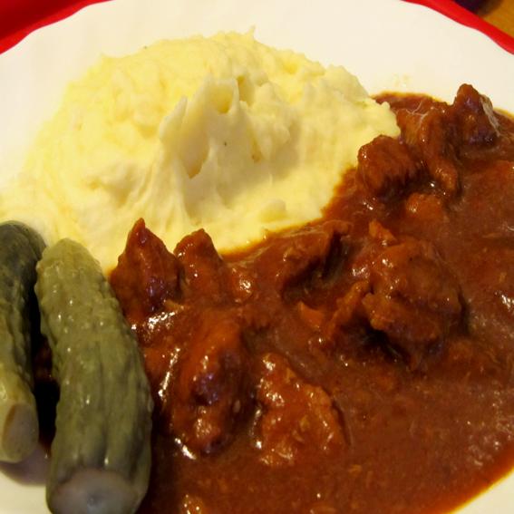 Goulash - Domestic pork meat stew (Domaći gulaš od svinjskog mesa)
