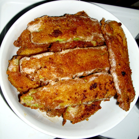 Fried breaded zucchini (Pohovane tikvice)