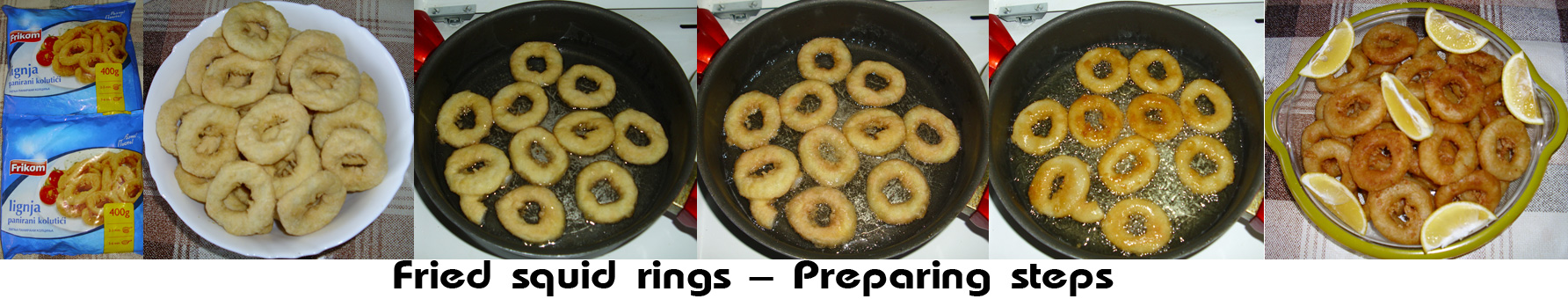 Fried squid rings - Preparing steps 1
