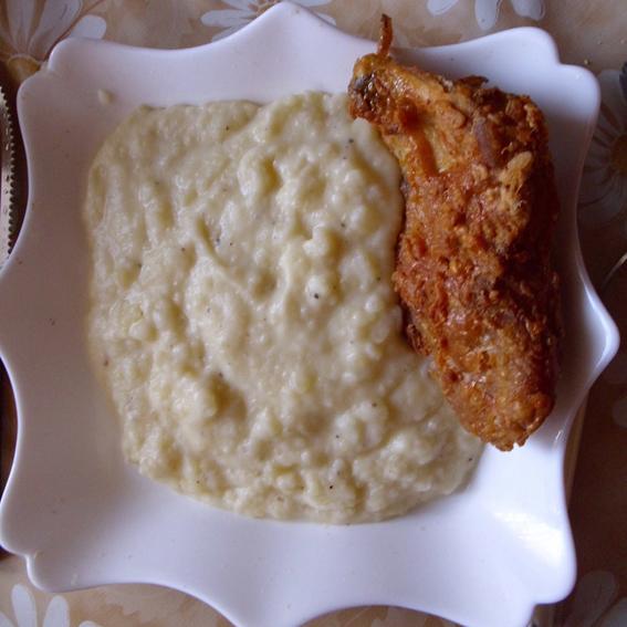 Mashed potatoes with sour cream (Krompir pire sa kiselom pavlakom)