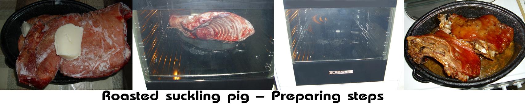 Oven roasted suckling pig (Prasece pecenje u rerni)