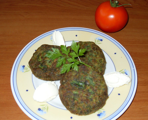 Patties with spinach