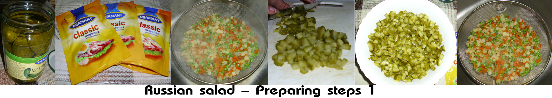 Russian alad preparing steps 1