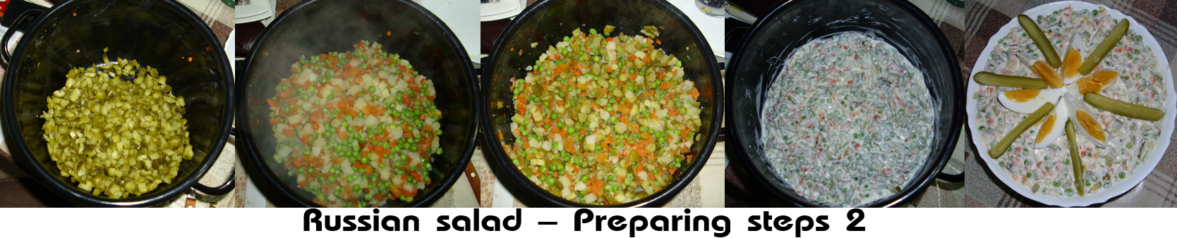 Russian salad preparing steps 2
