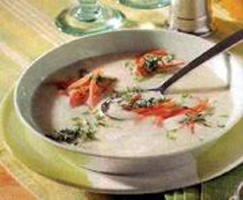 White rice soup