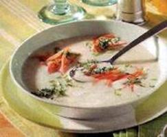 White rice soup
