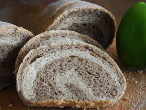 Two color bread