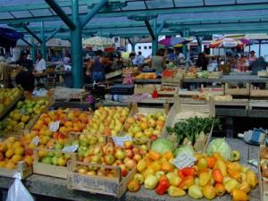 Serbian street market