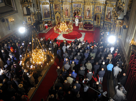 Christmas Liturgy 2012 in Serbia