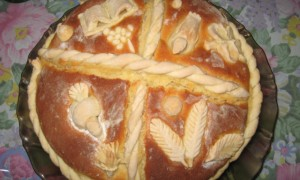 "Veliki slavski kolač – Great Cake for Serbian Orthodox Traditional Celebration ""Slava"""