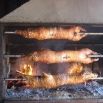 Pig Roasted on a Spit