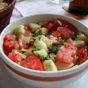 Serbian Tomato Salad